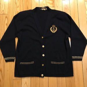 Vintage BANANAS Sailer cardigan sweater Xl